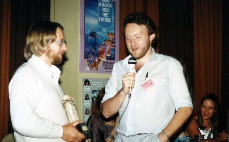 British Fantasy Awards 1987 - David Sutton Stephen Jones receive their award for Fantasy Tales