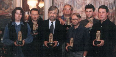 British Fantasy Awards 1994 - Pam Creais, Stephen Jones, Dennis Etchison, Ramsey Campbell, David Sutton, Conrad Williams (for Poppy Z. Brite) and Les Edwards