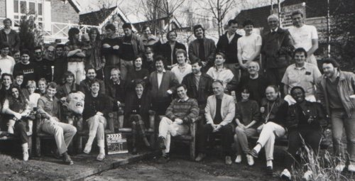 HELLRAISER cast & crew photo, London 1986 (Stephen Jones far right)