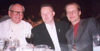 William F. Nolan, Stephen Jones and Randy Broecker at the World Fantasy Convention (Minneapolis 2002)