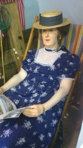 Creepy Mannequins  in the Hornsea Museum