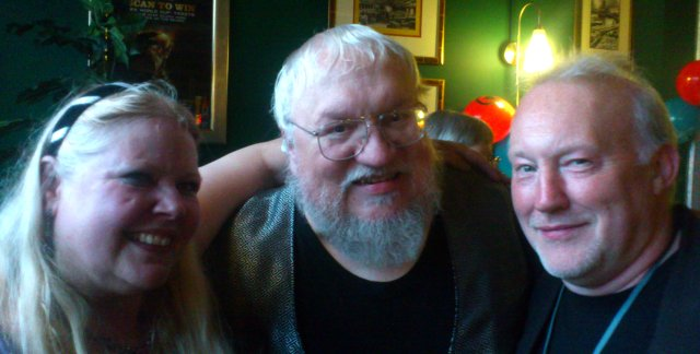 Jo Fletcher, George R.R. Martin and Stephen Jones
