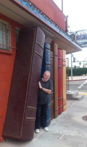 Stephen Jones outside Illiad Bookshop