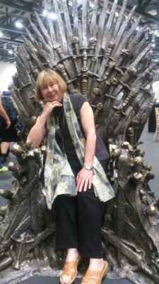 Val Edwards on the Iron Throne